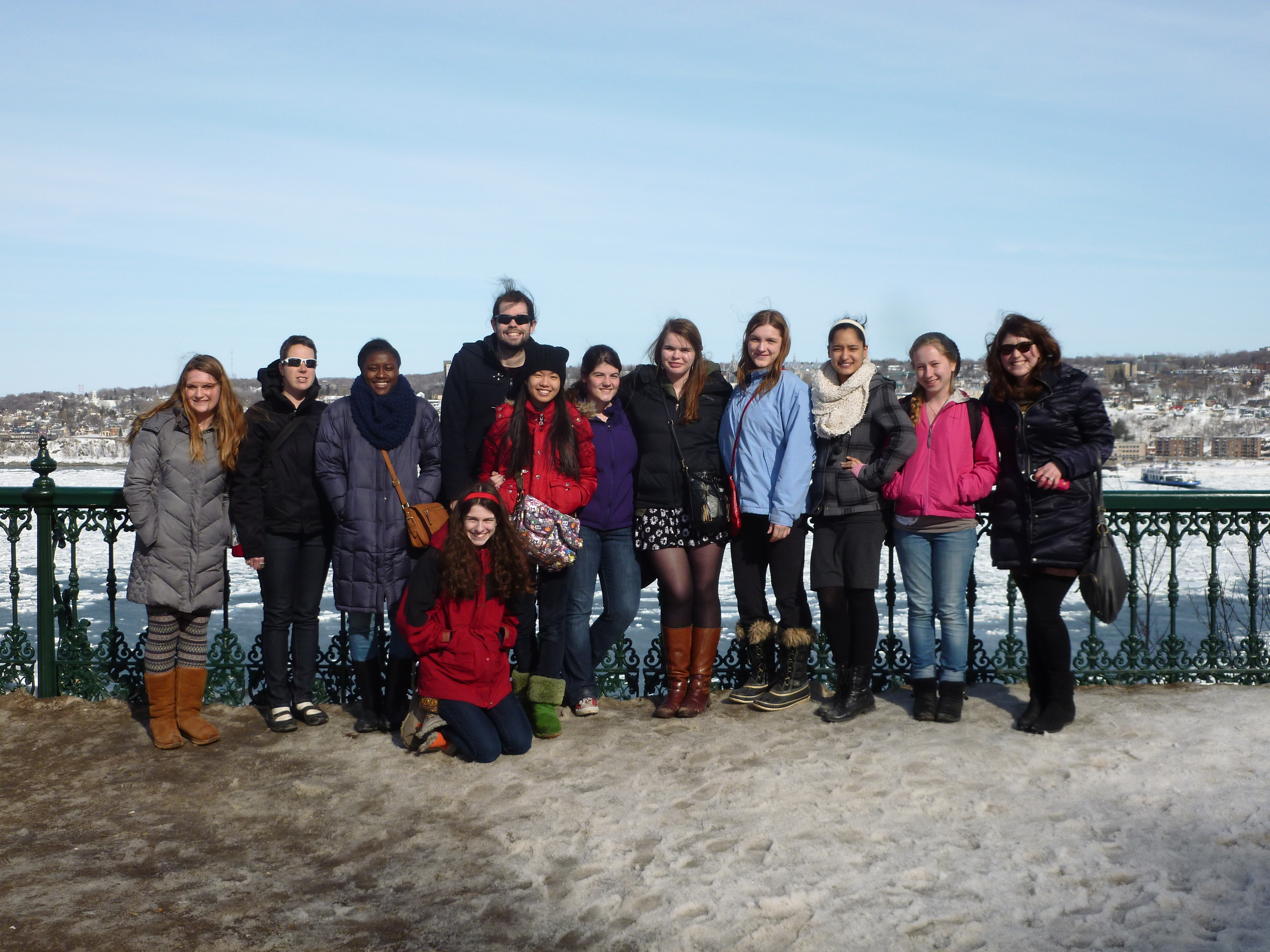 Students in French class visit Quebec