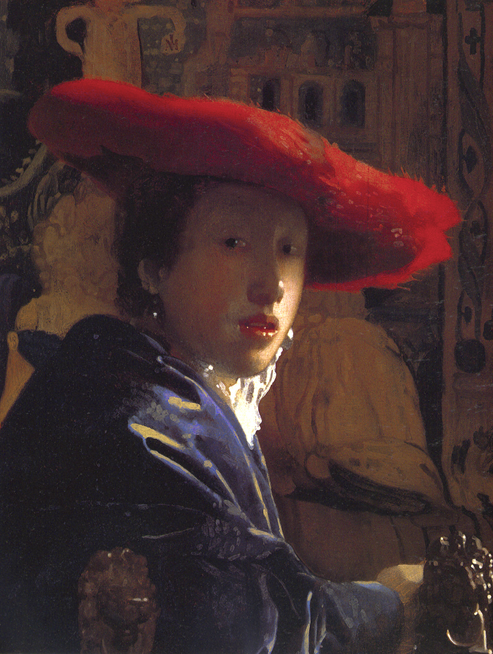 Jan Vermeer's Girl With A Red Hat