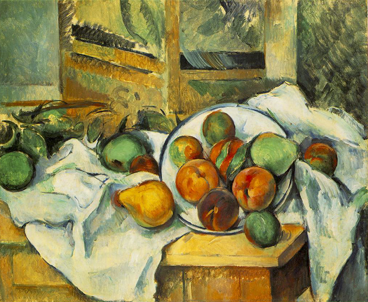Paul Cézanne'sTable, Napkin, and Fruit