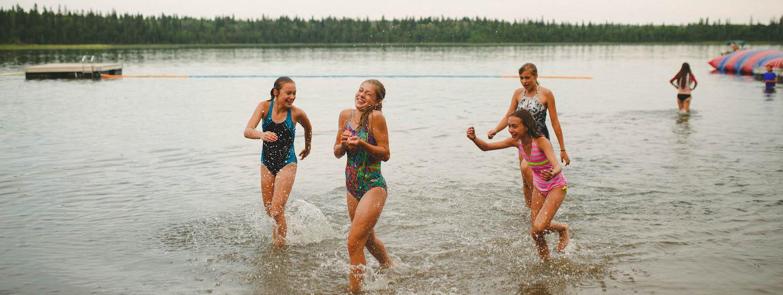Swimming at Camp Kadesh