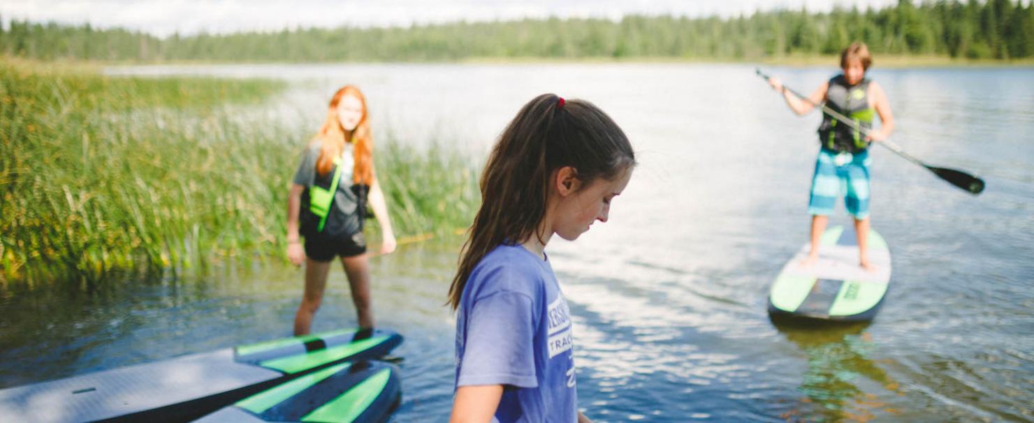 Stand up Paddle Board program Camp Kadesh
