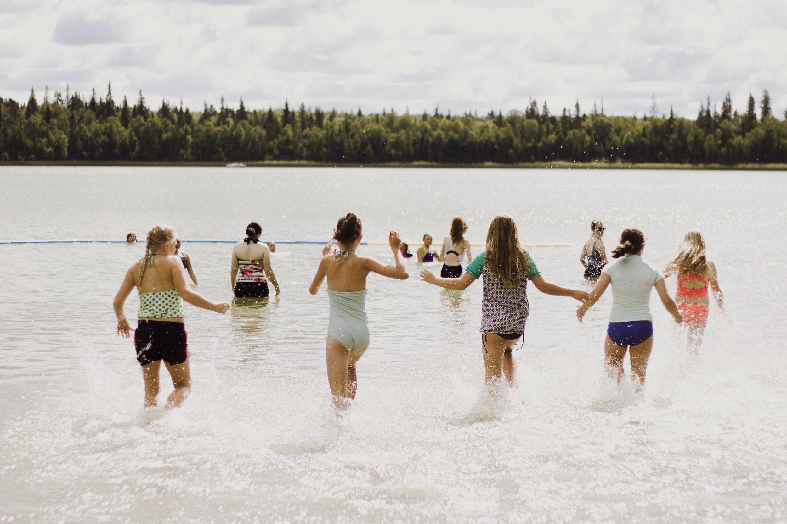 Swimming in Christopher Lake