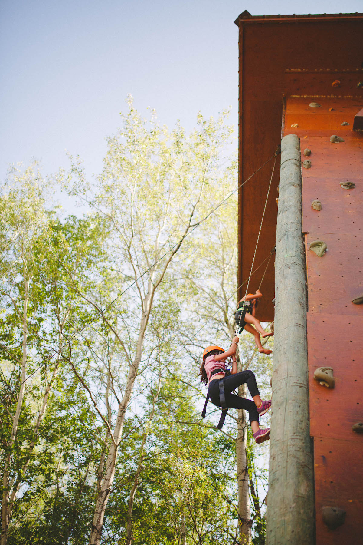 The wall challenges any camper to push personal limits