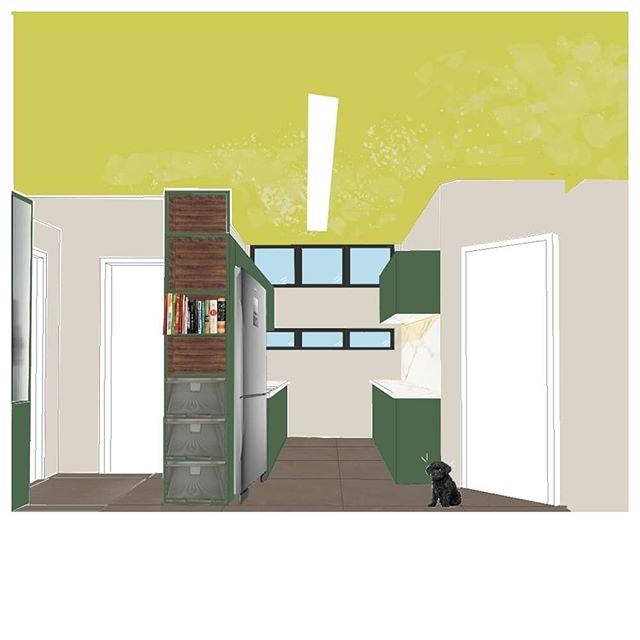 Eis aqui o conceito da  cozinha co-criado com @thom_take do #saturnocerrado  #arquitetura  #design  #croquis