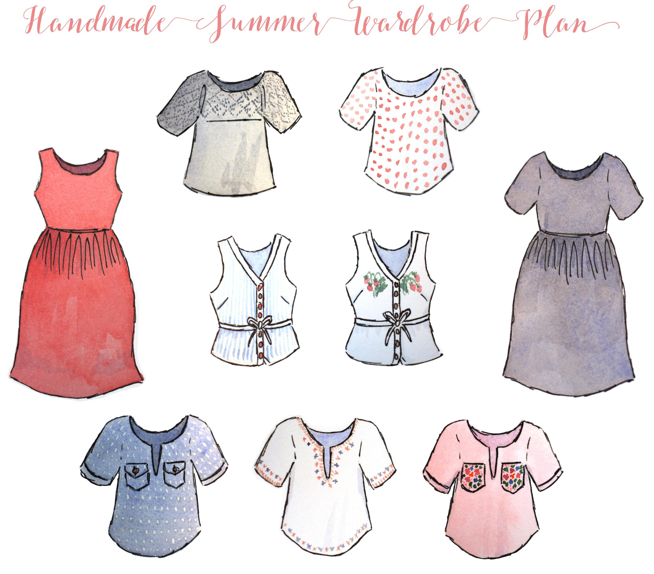 Acanthus House   Summer 2015 Handmade Wardrobe Plan