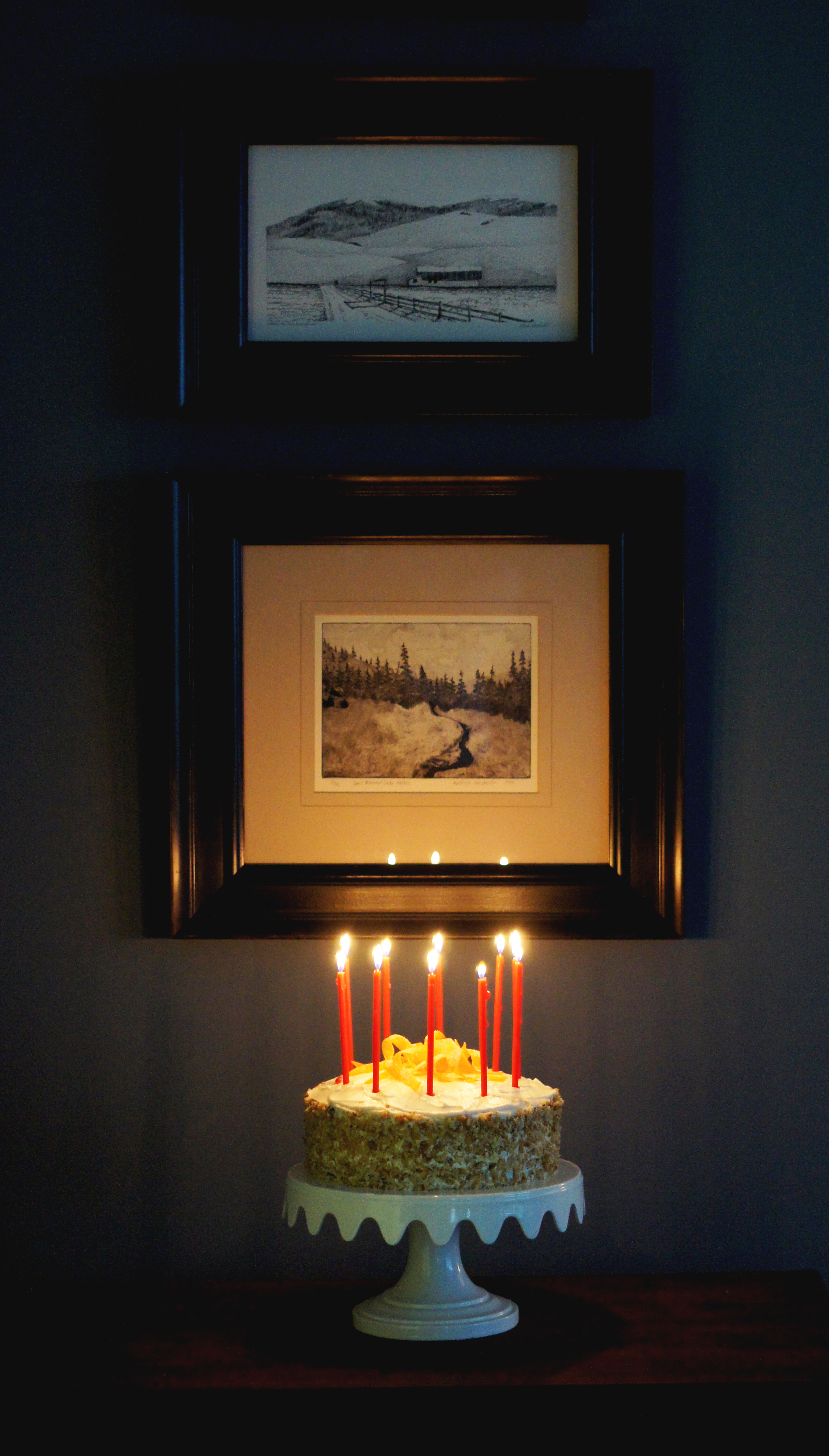 Acanthus House   Carrot Cake 2015 with Candles