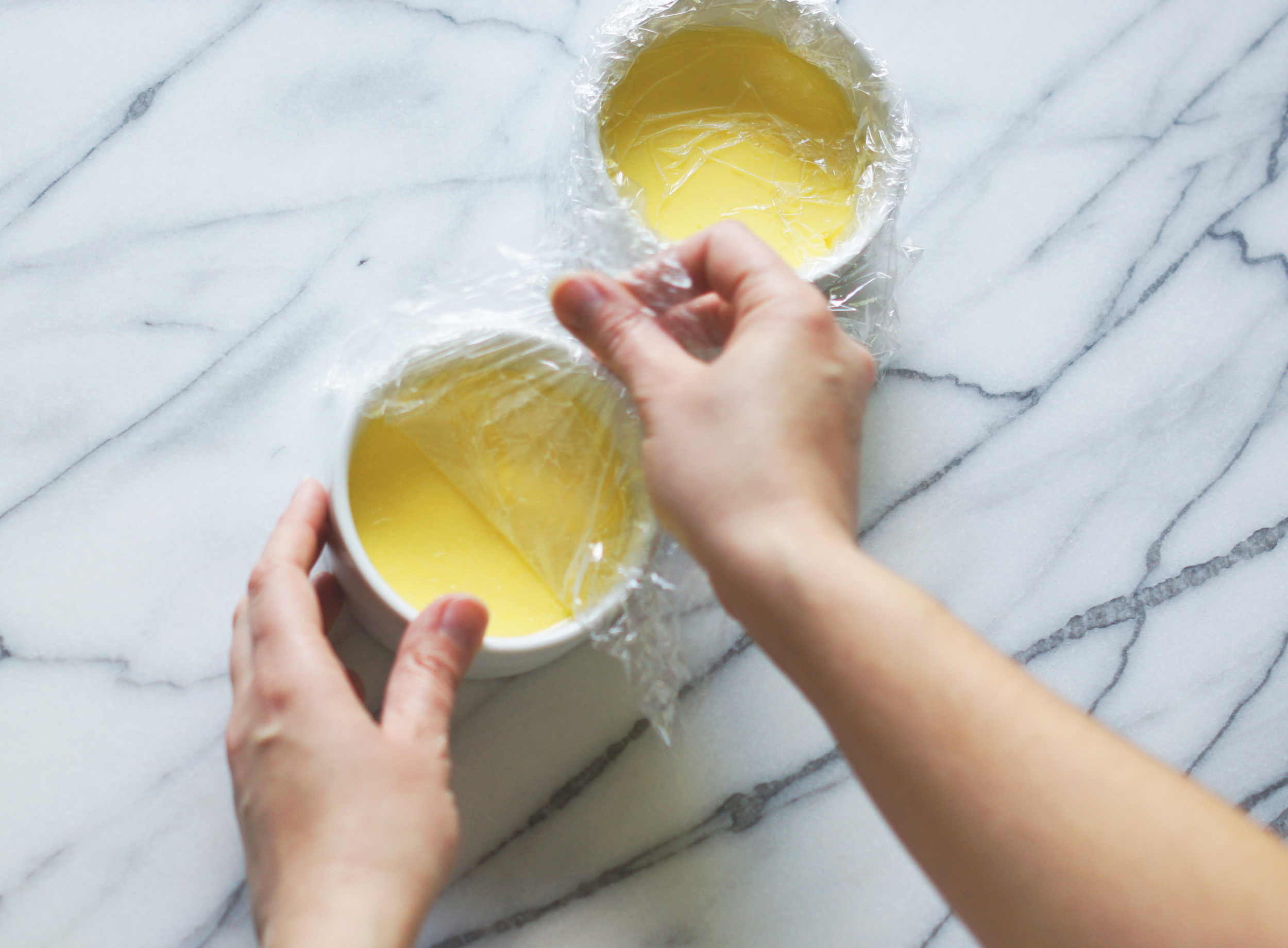 Acanthus House | Peeling Plastic Off Chilled Creme Brulee