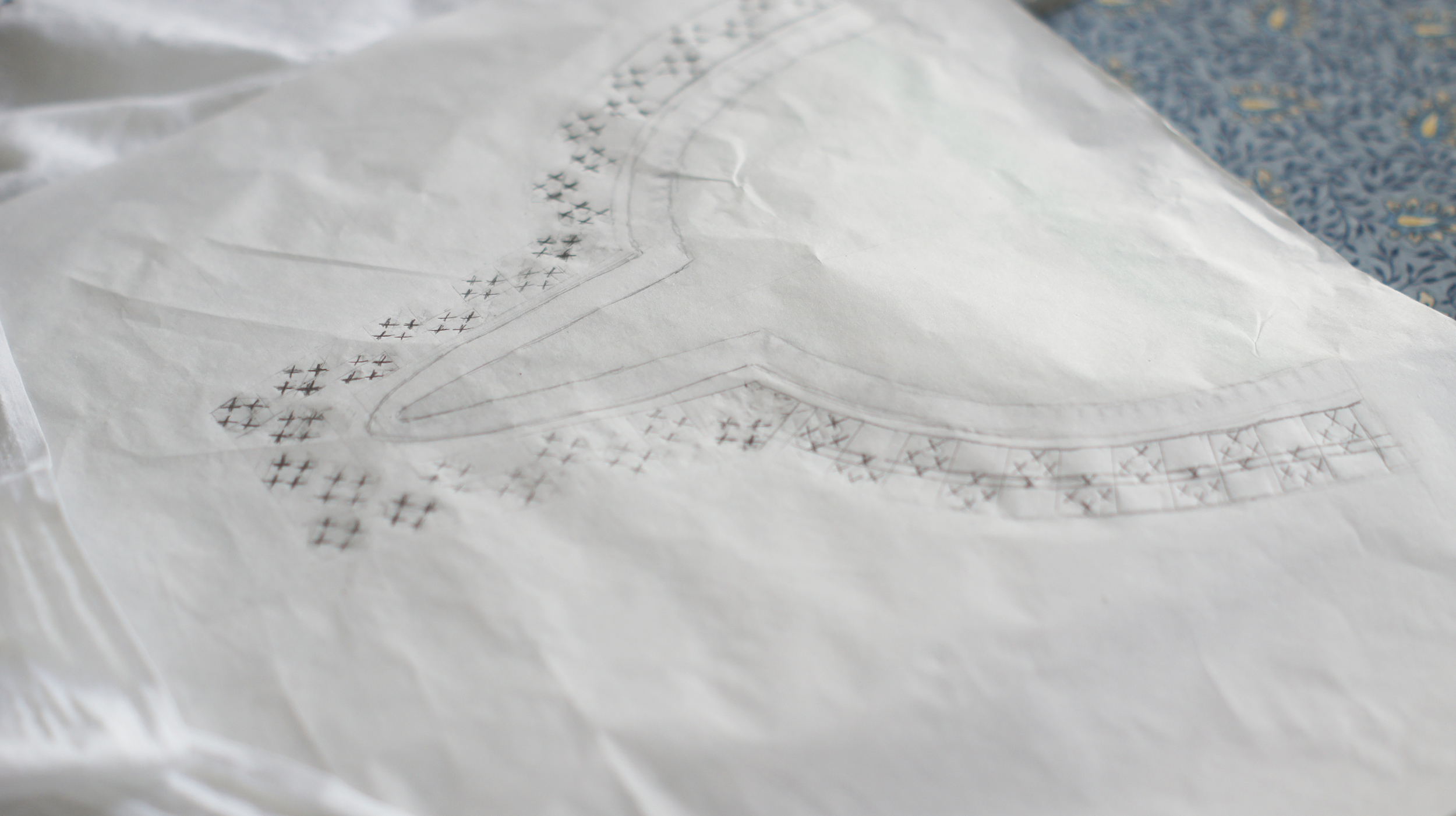 Acanthus House | White Embroidered Scout Madewell Neckline Design