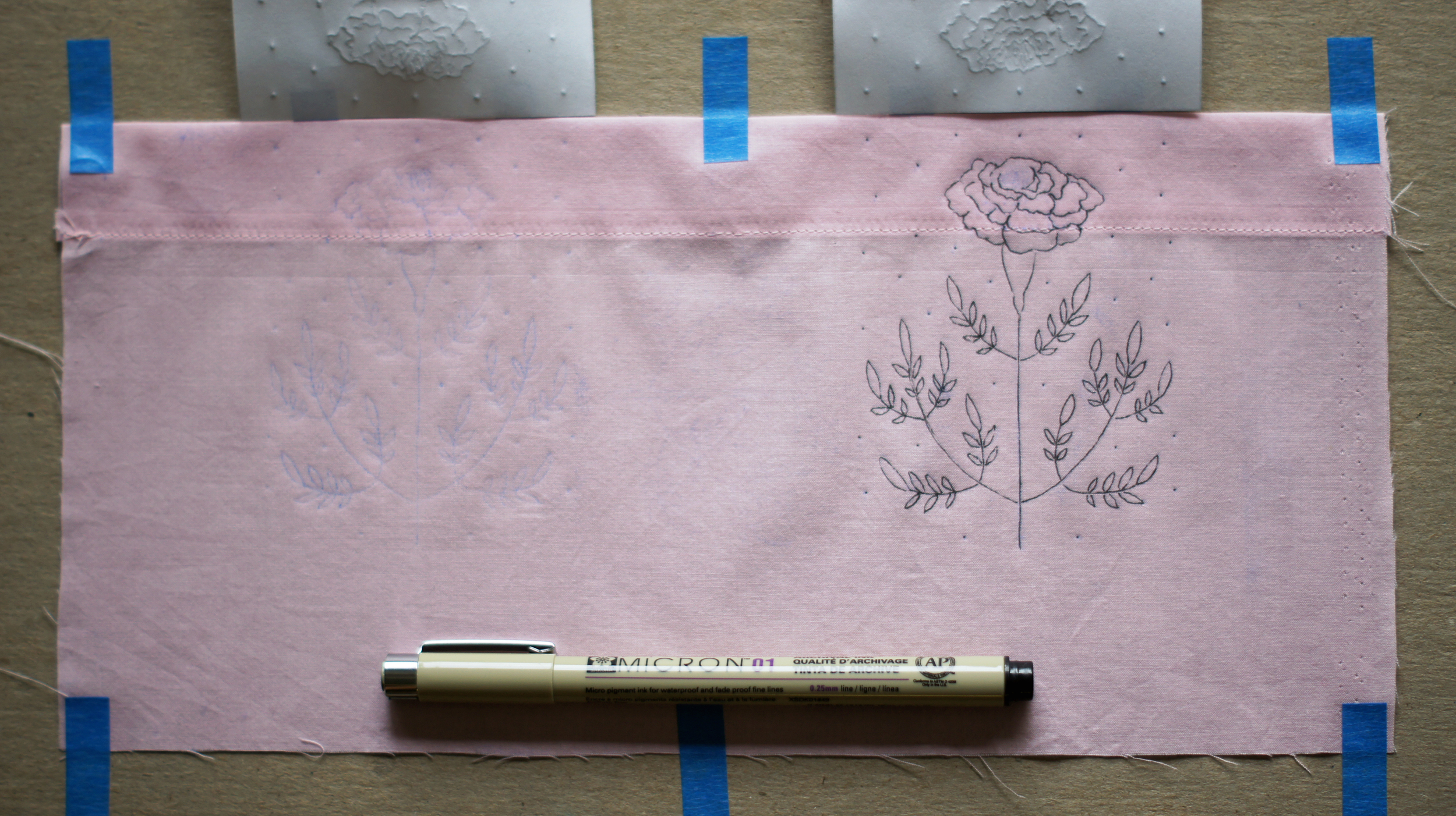 Acanthus House | Tracing Over the Marigold Transfer