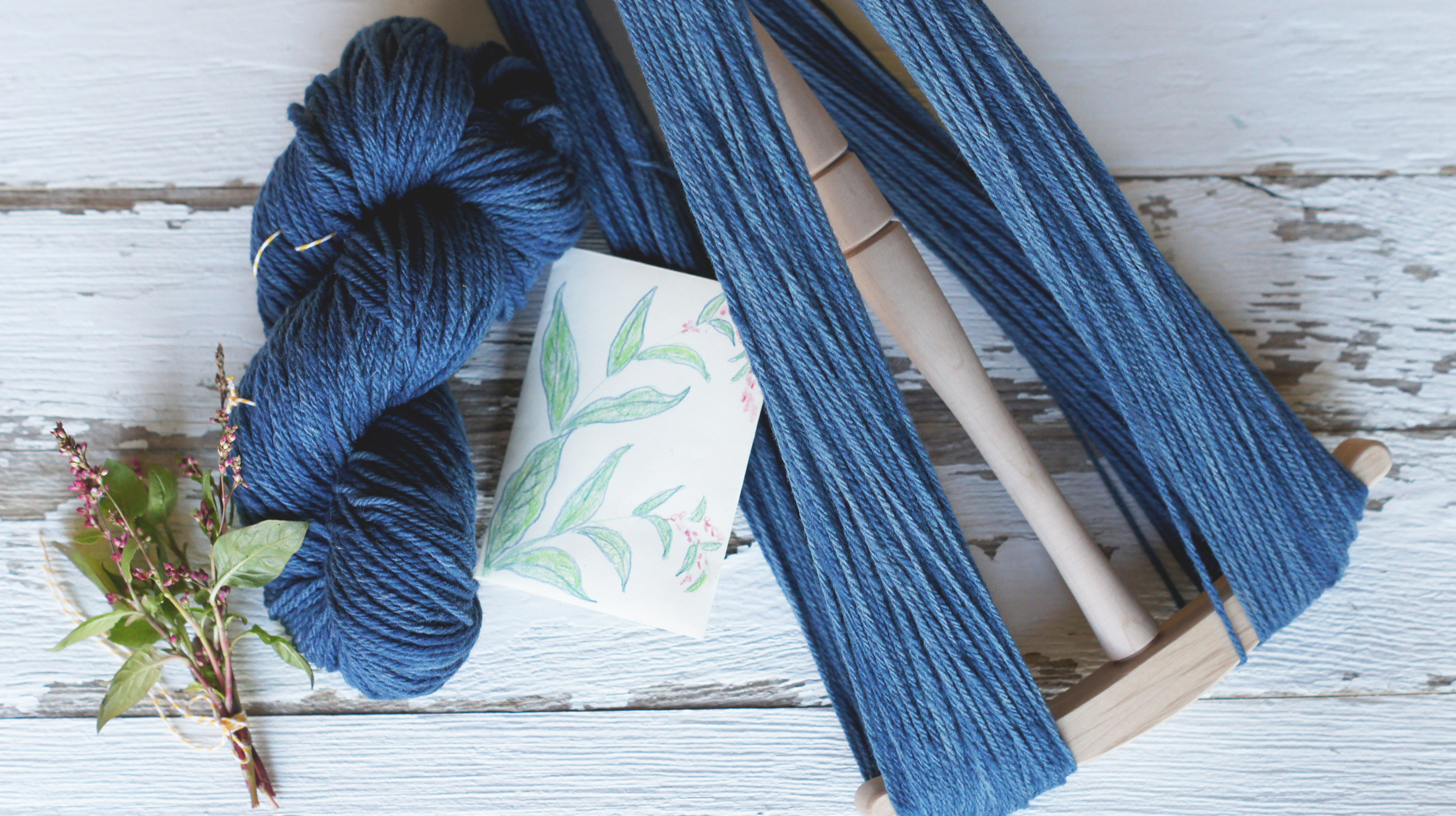 Acanthus House | Yarn dyed with Indigo