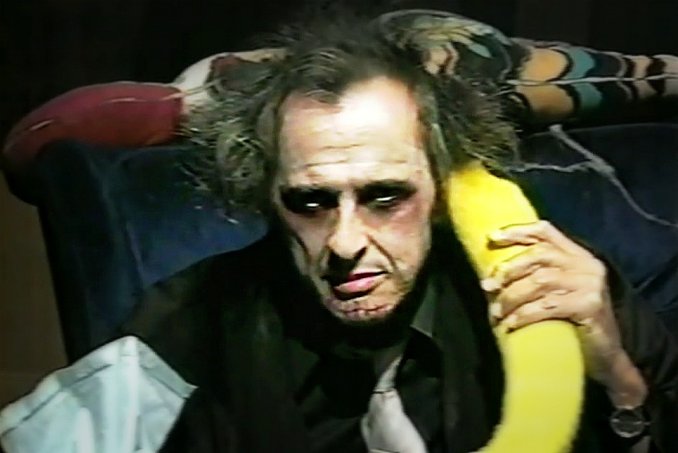Uncle Ed aka The Creeper aka Cousin Creeper  On one of his famous Banana Phones