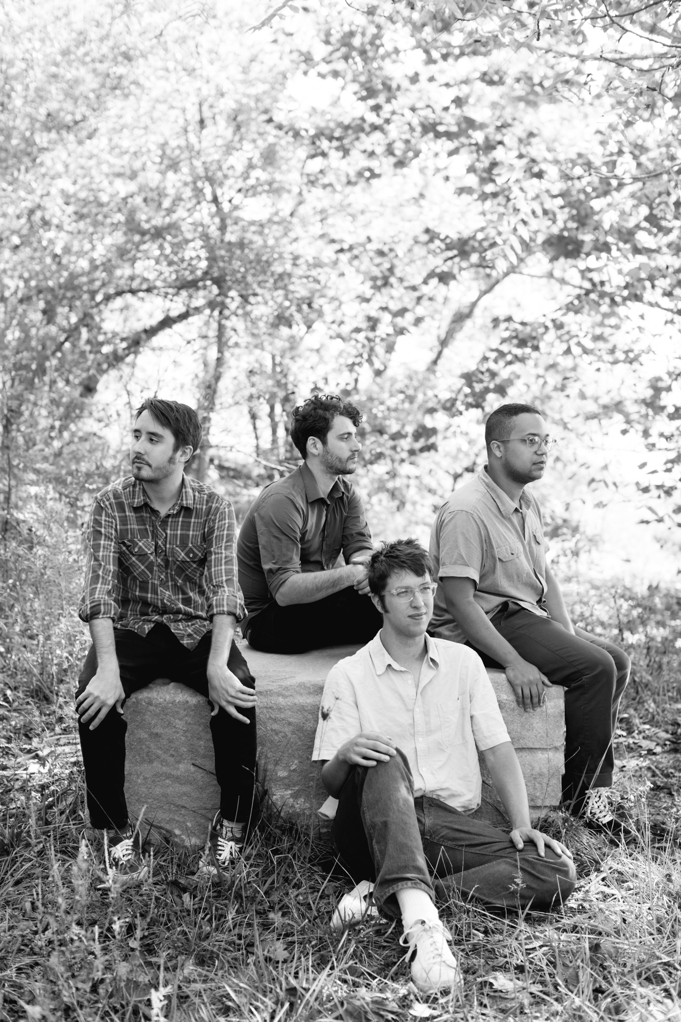 Band photo of Thunder Dreamer in Bloomington, Indiana.