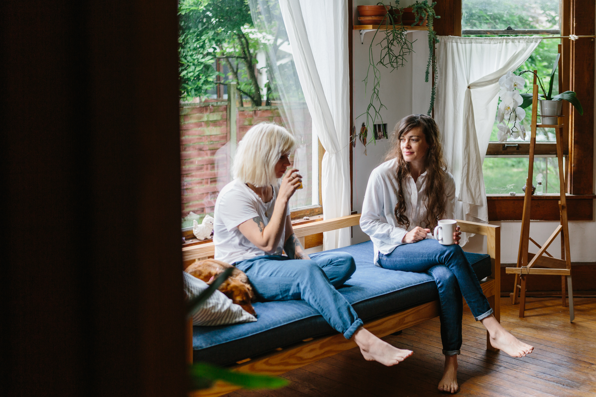 An editoral portrait of Ivy Siosi and Audio Culver of Siosi Design in their home in Bloomington, Indiana for Lonny Mag.