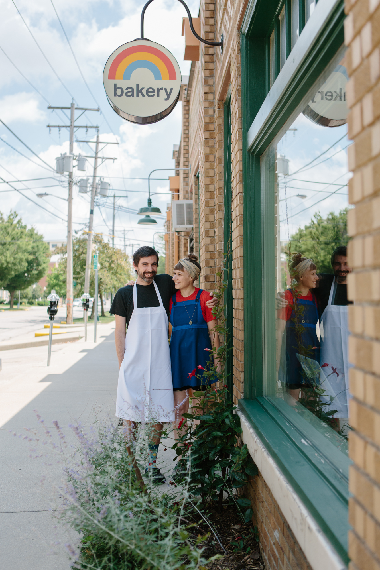 Editorial photo of Rainbow Bakery's owners in Bloomington, Indiana.