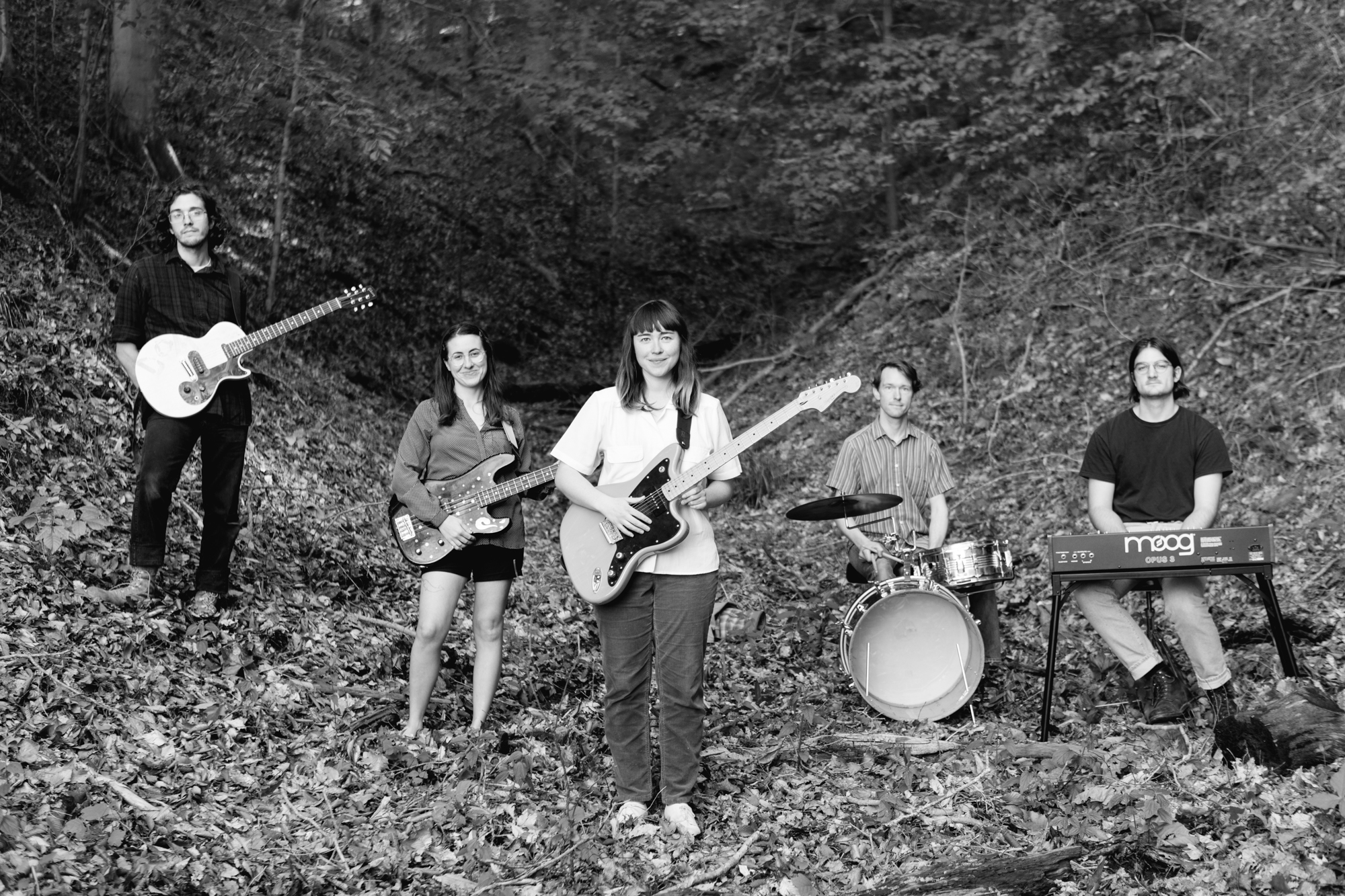 A music photo of band Amy O in Bloomington, Indiana.