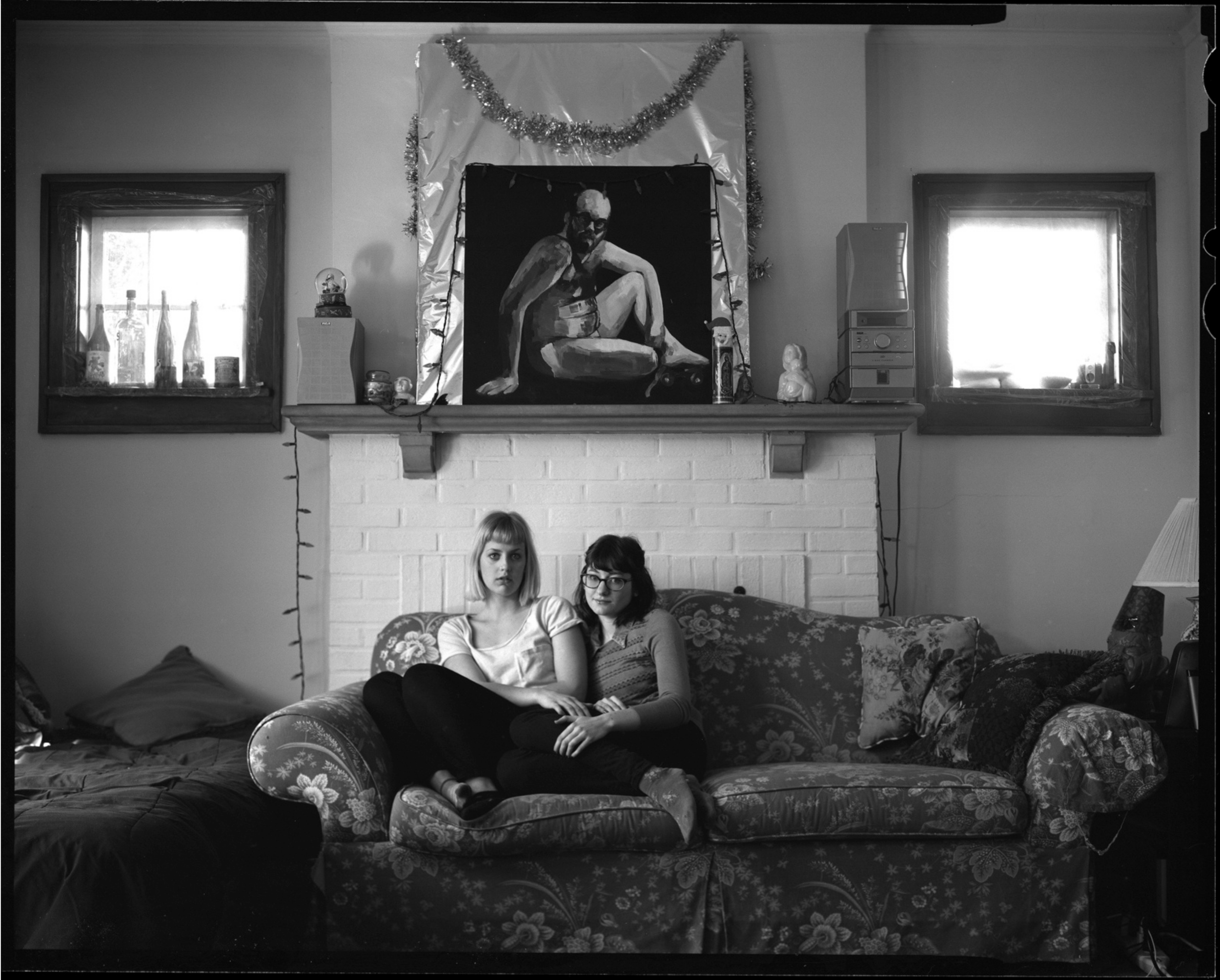 A lifestyle film portrait of two women in Bloomington, Indiana.