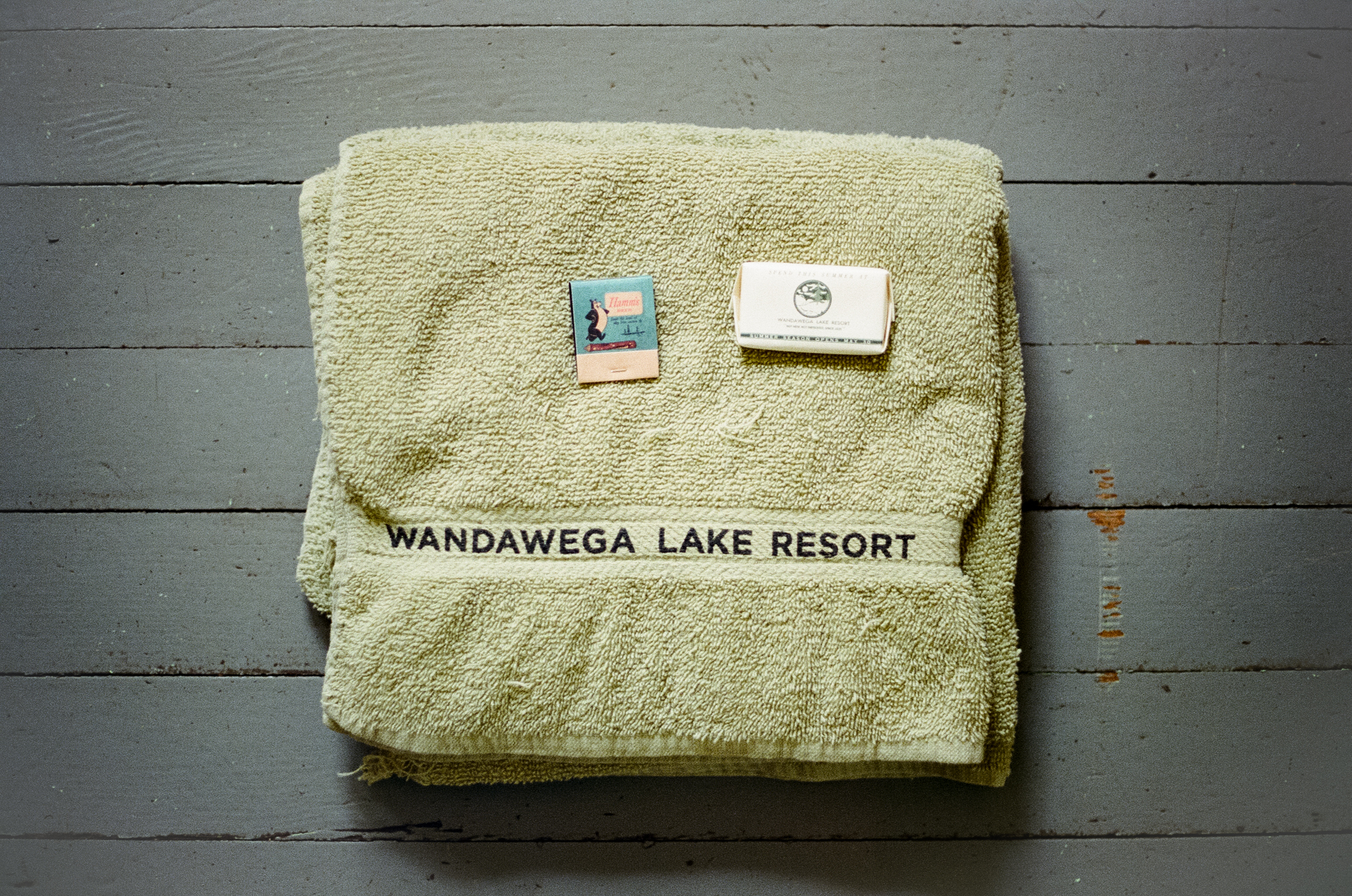 A photo of a towel at  Camp Wandawega  in Elkhorn, Wisconsin during Let's Camp 2018 photographed for  Driftless magazine  and hosted by  The Glossary  and  Feminest .