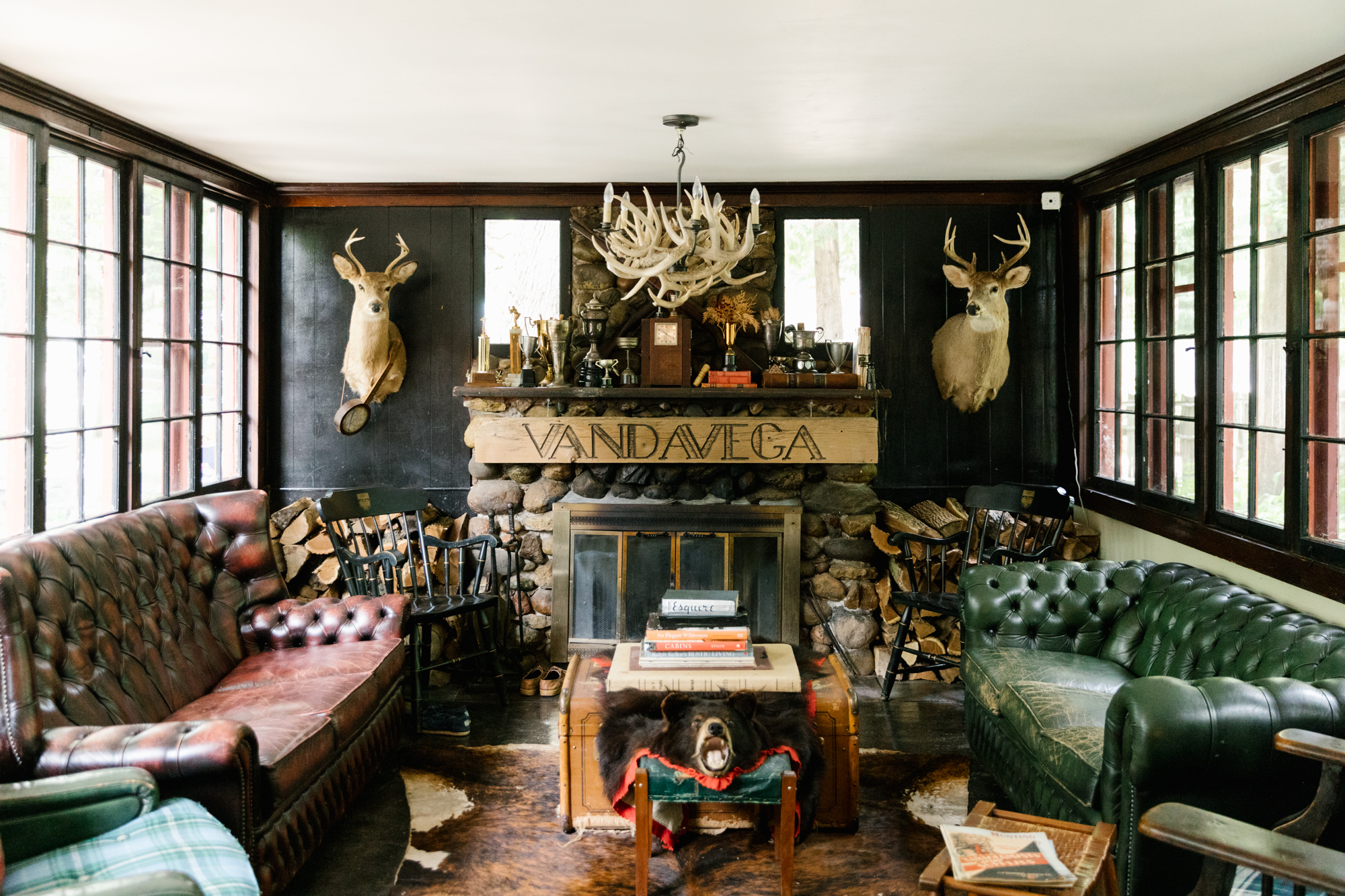 A photo of the main lodge at  Camp Wandawega  in Elkhorn, Wisconsin during Let's Camp 2018 photographed for  Driftless magazine  and hosted by  The Glossary  and  Feminest .