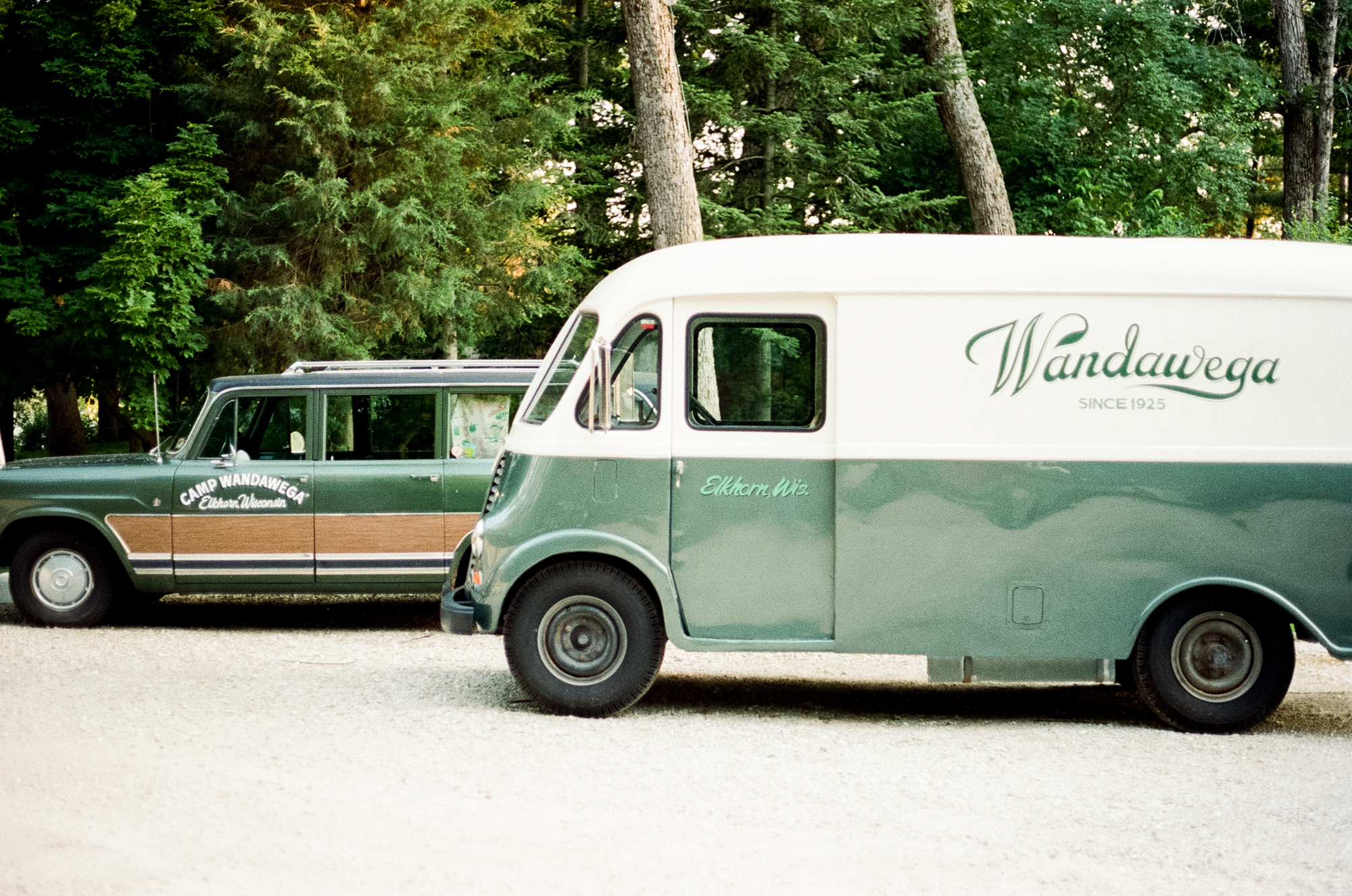 A photo of the iconic cars at  Camp Wandawega  in Elkhorn, Wisconsin during Let's Camp 2018 photographed for  Driftless magazine  and hosted by  The Glossary  and  Feminest .