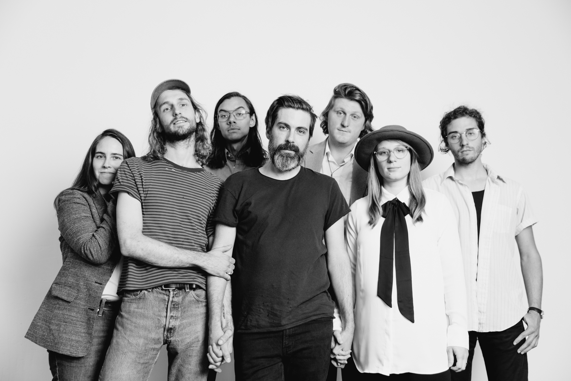 A music portrait of a band in a photography and videography studio in Bloomington, Indiana.