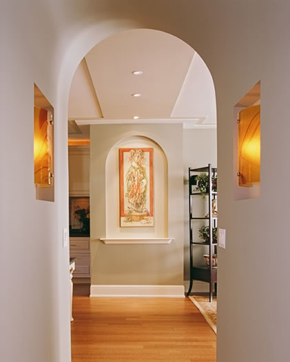 Creative interior architectural detailing enhances a space .