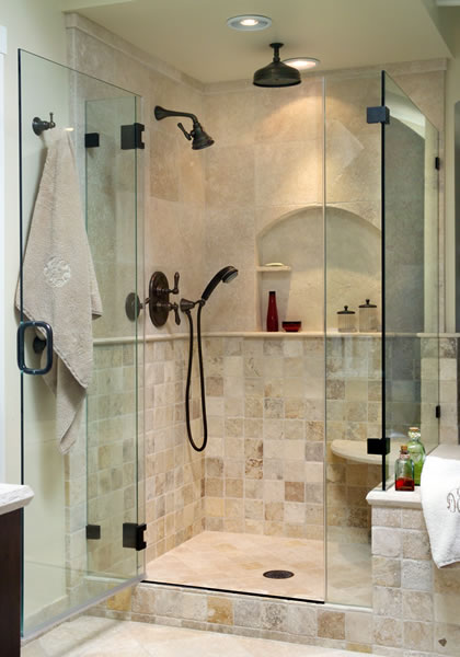 A shower with options.