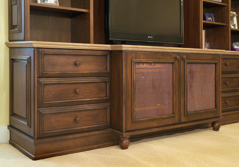 This entertainment center is beautifully detailed.