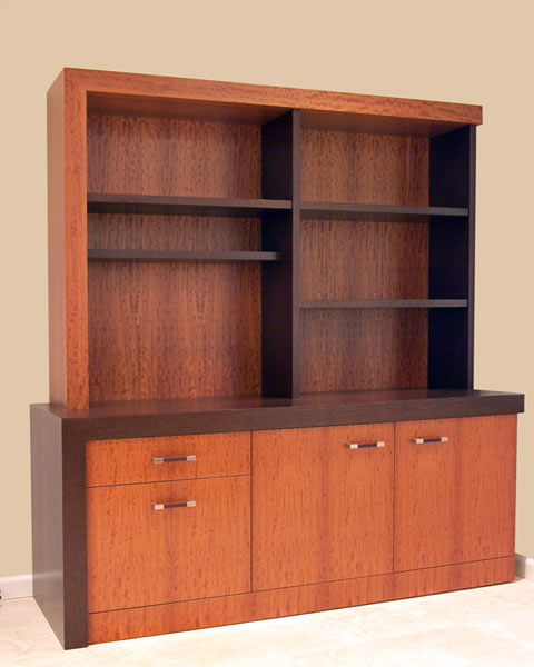 A matching storage and display cabinetry.