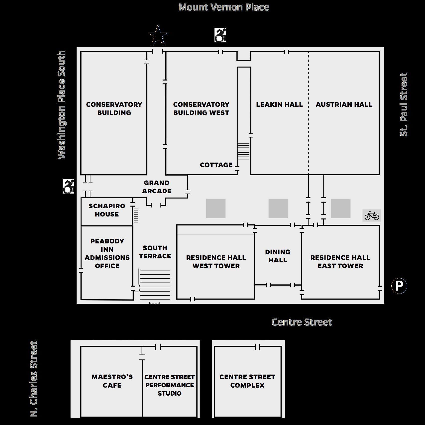 Peabody Campus Map