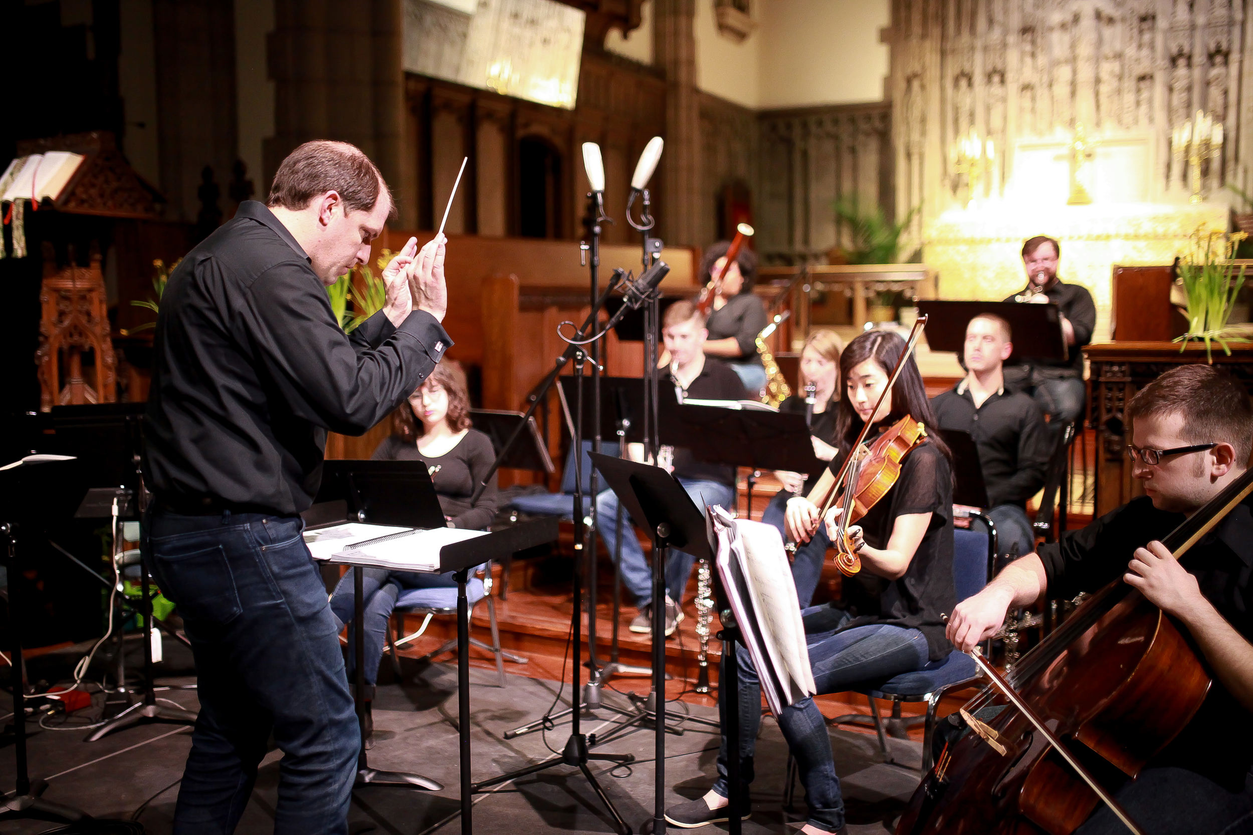 Symphony Number One plays during the Light City recording session