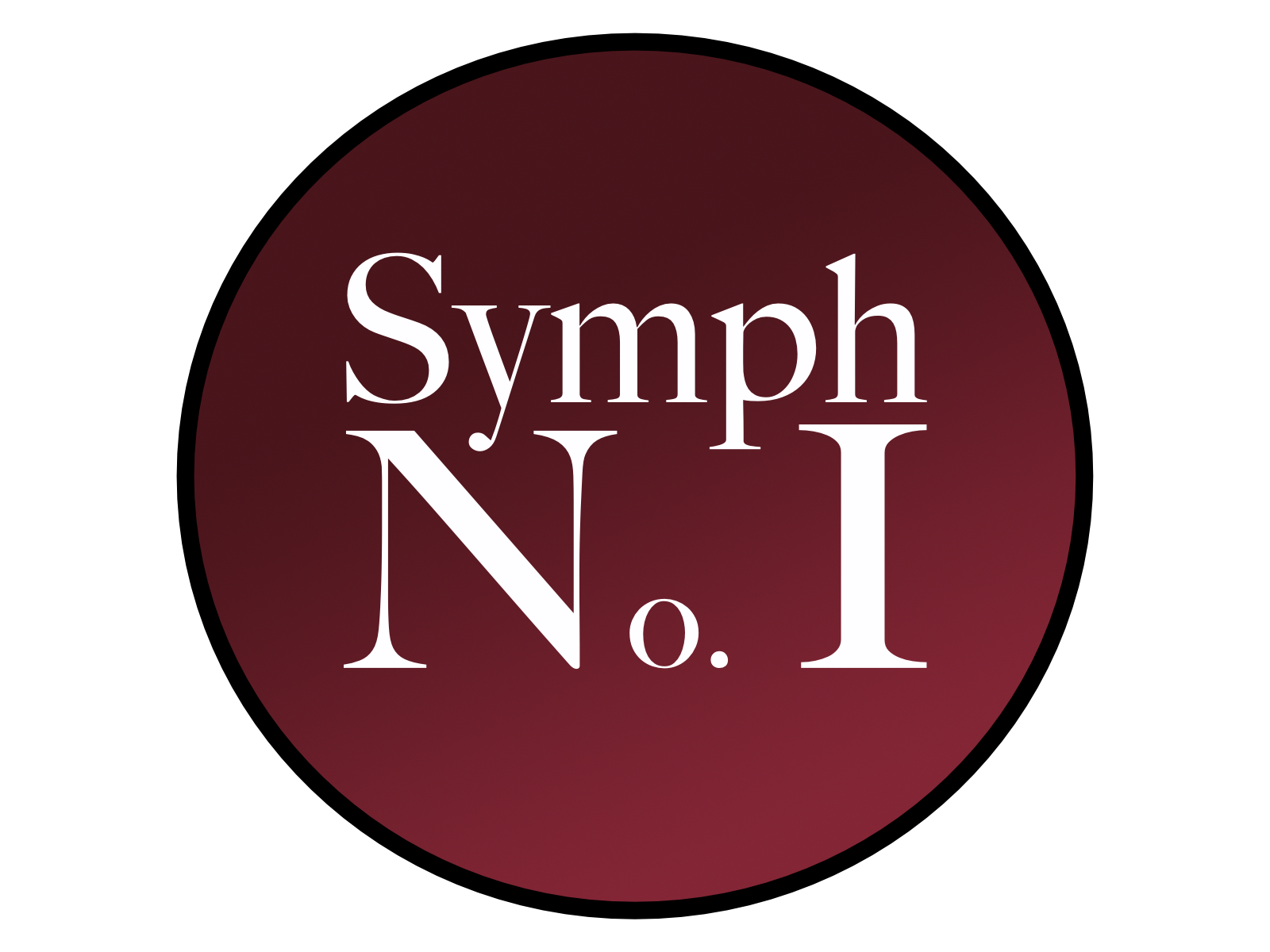 Symphony Number One Logo. Download 4x3 |  3x4