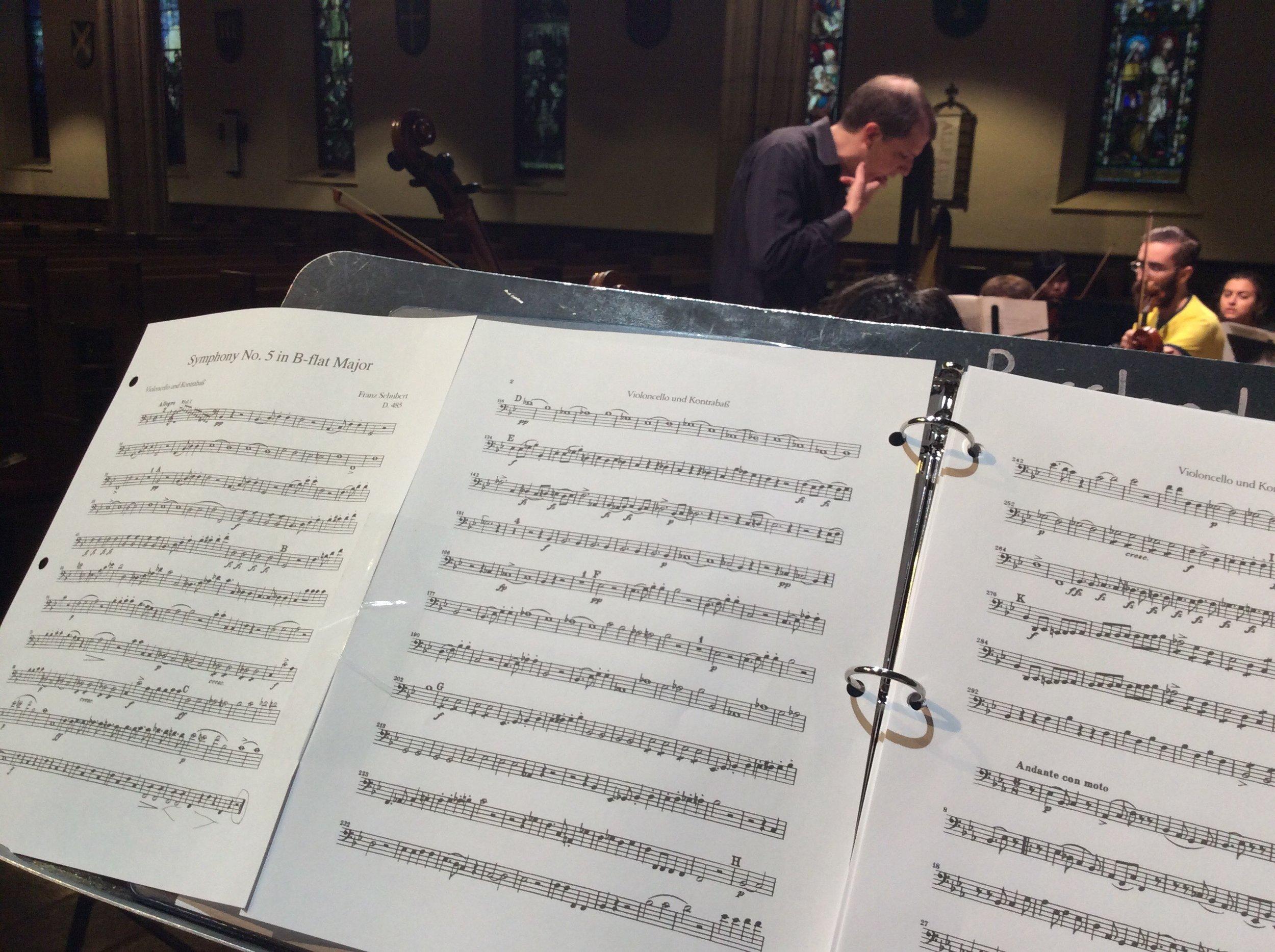 Rehearsing Mark Fromm's Symphony No. 1