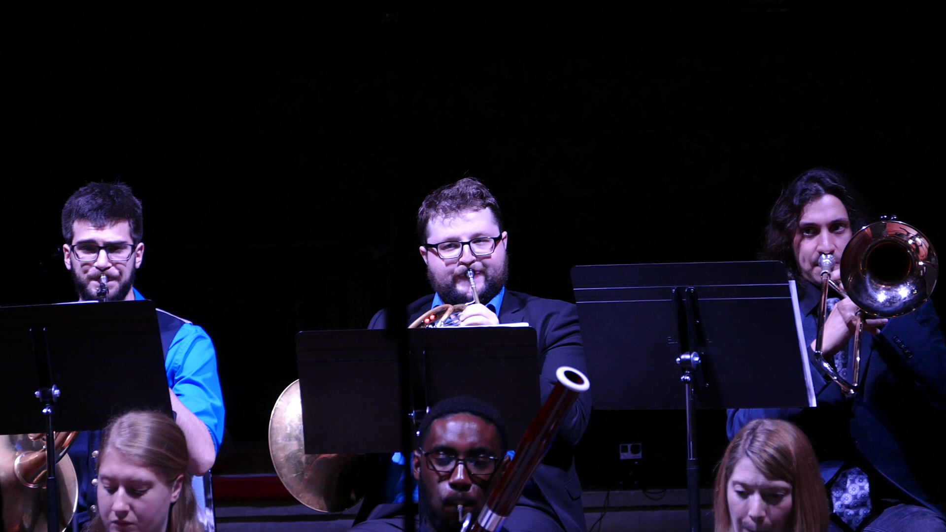 Current and former Principal Hornist Scott Ullman and Kelso Jones (respectively) perform with guest artist Gabriel Luciano and the woodwinds of Symphony Number One.
