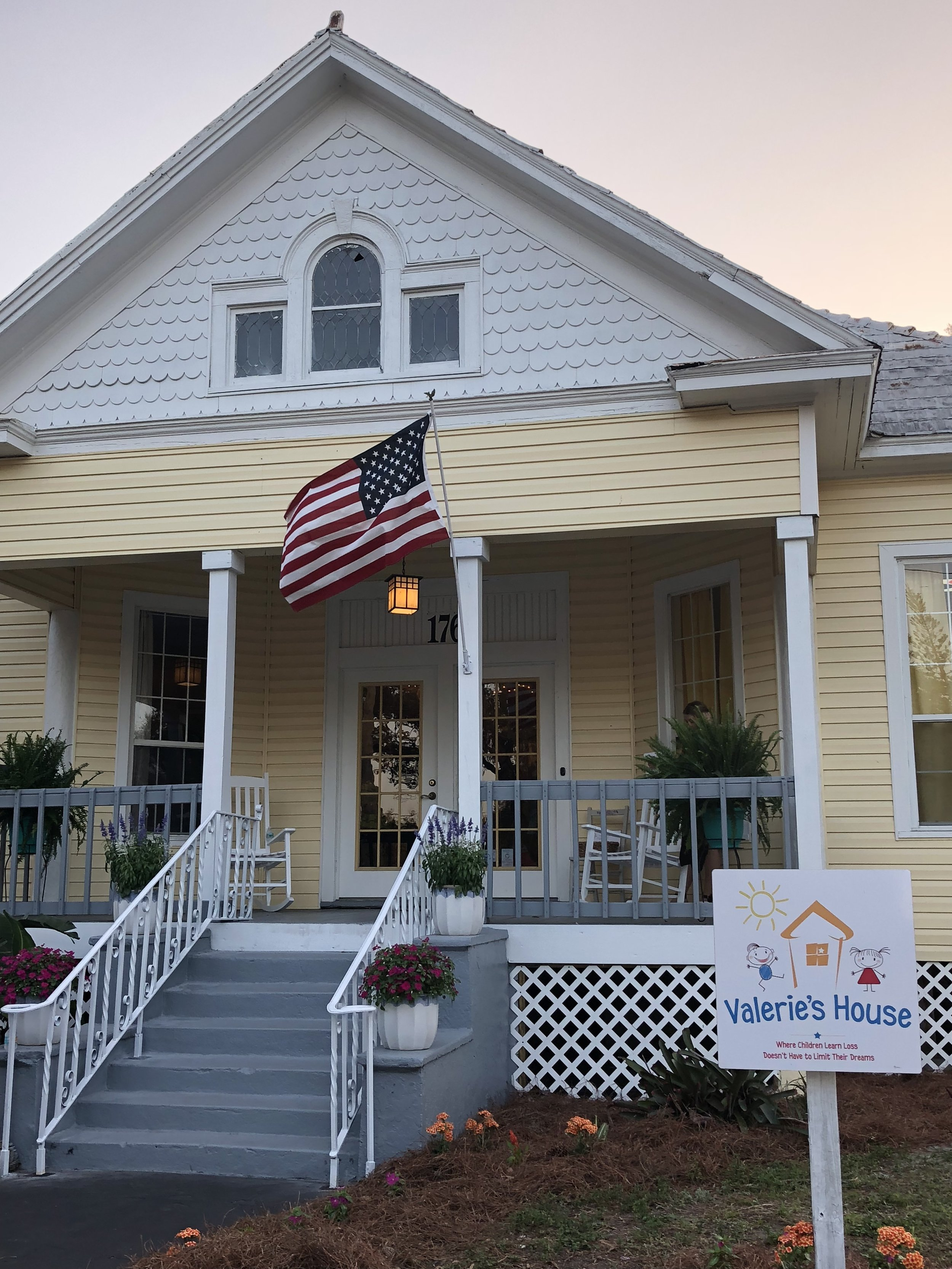 The two-story yellow and white Victorian house was originally built in 1910. After many years as the home of several early Fort Myers families, the house has been refurbished to accommodate the Valerie's House organization.
