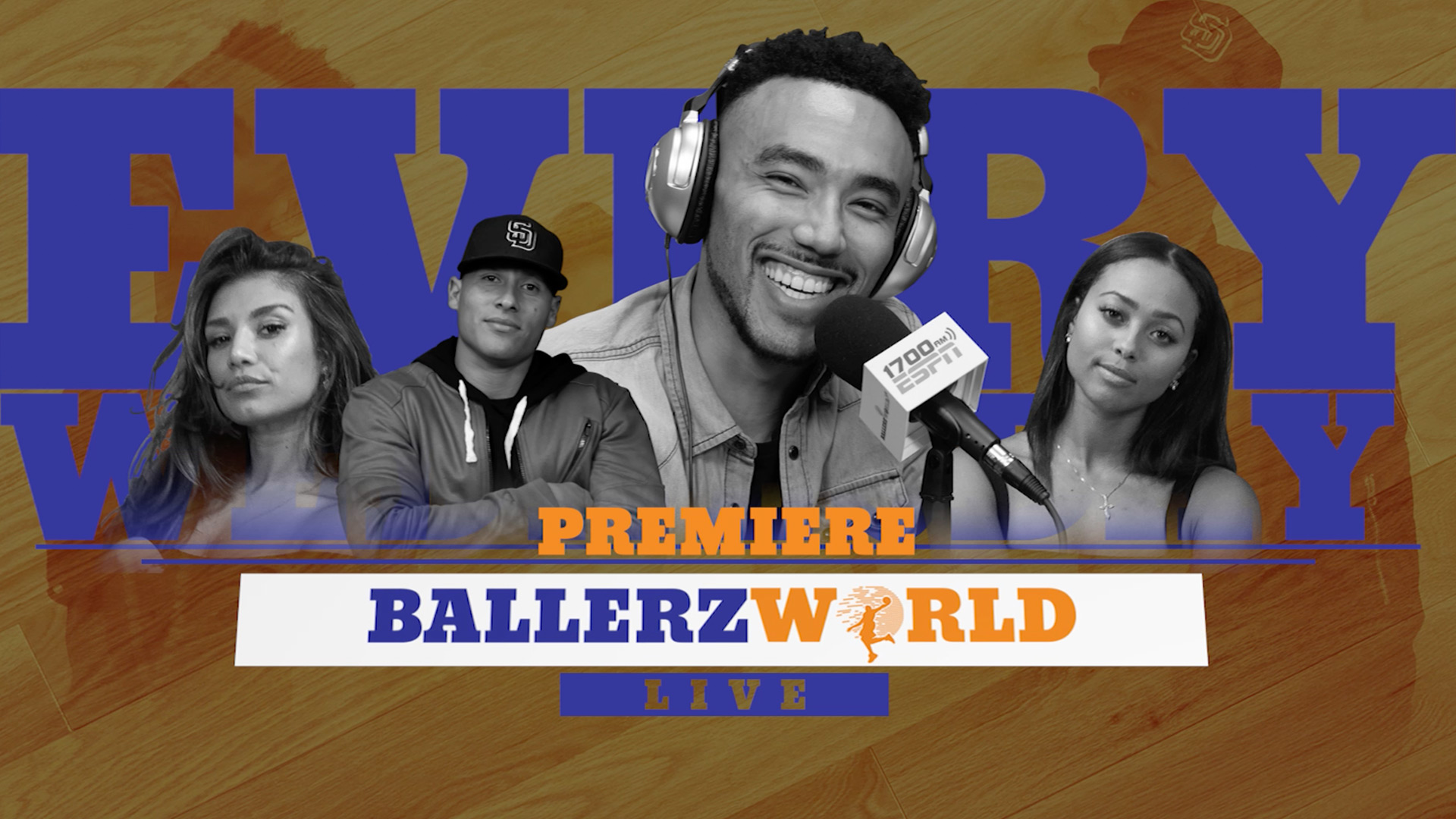 "BALLERZ WORLD LIVE   Captivating, smart, funny, and relevant, Ballerz World Live offers the ""Best Entertainment in Basketball"" in a weekly digital podcast co-hosted by a rotating collection of leading millenial influencers and athletes in sports entertainment."