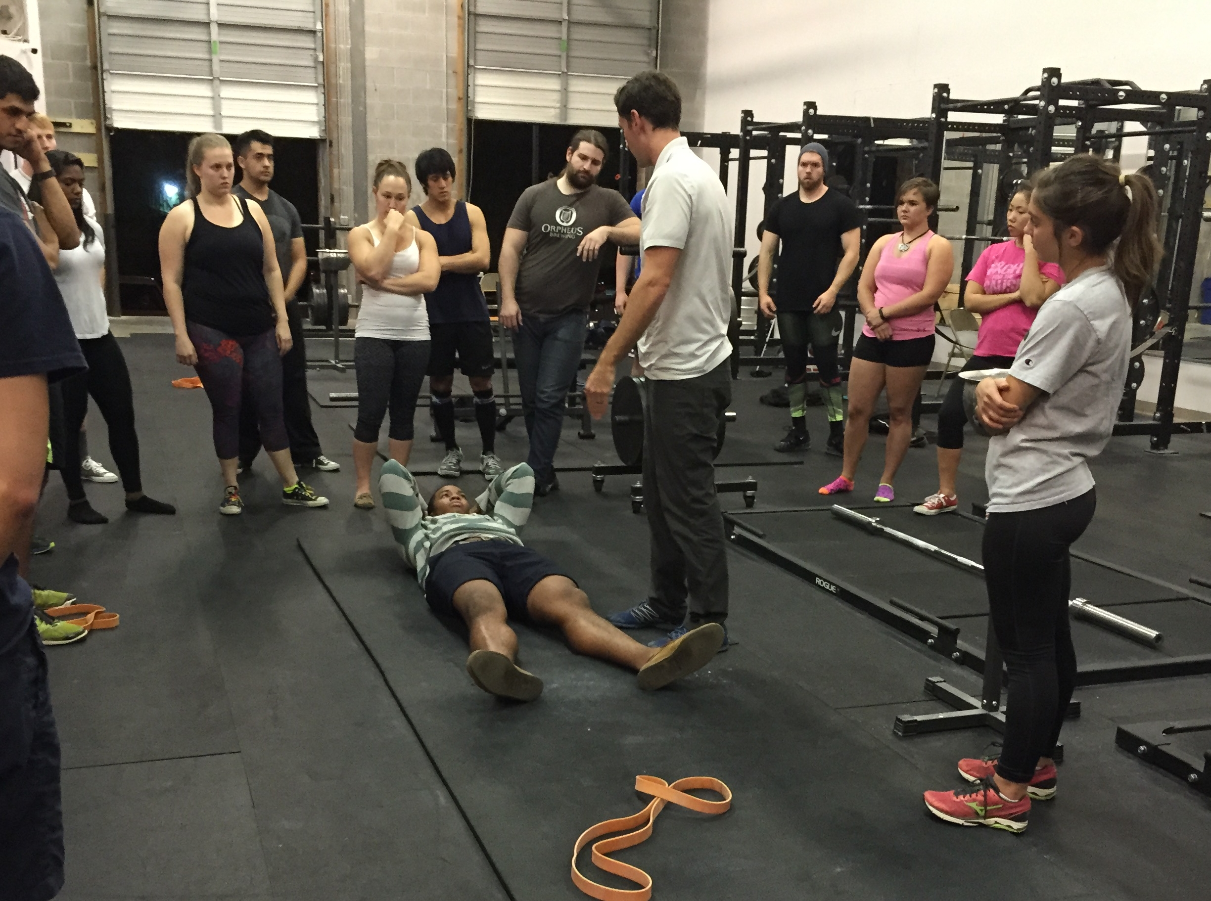 Dr. Danny Matta of MobilityWOD and Athletes Potential working mobility with GT Barbell.