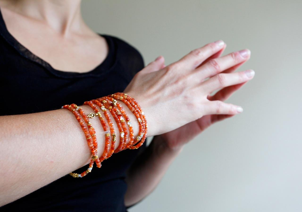 wraparound carnelian bracelet