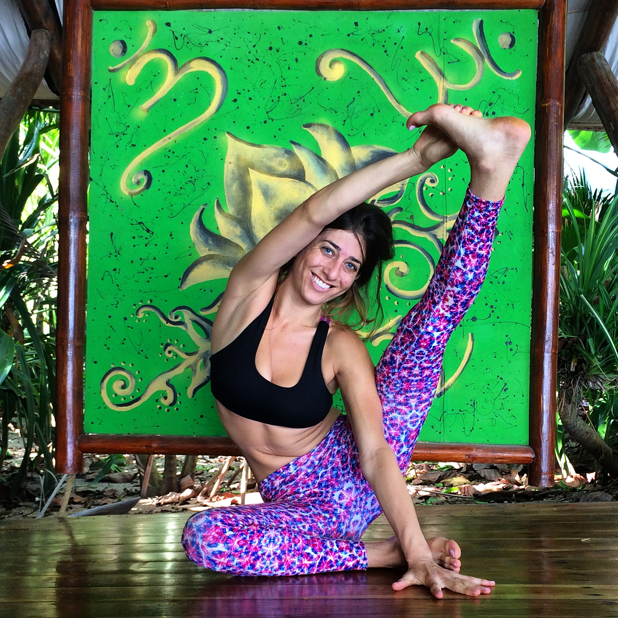 """My self-practice soars in Costa Rica, and I attempt things I don't normally in classes; therefore, I have a lot of """"yoga breakthroughs"""" in Costa Rica! (Wearing Sulara Wear - at Hotel Tropico Latino in ST.)"""