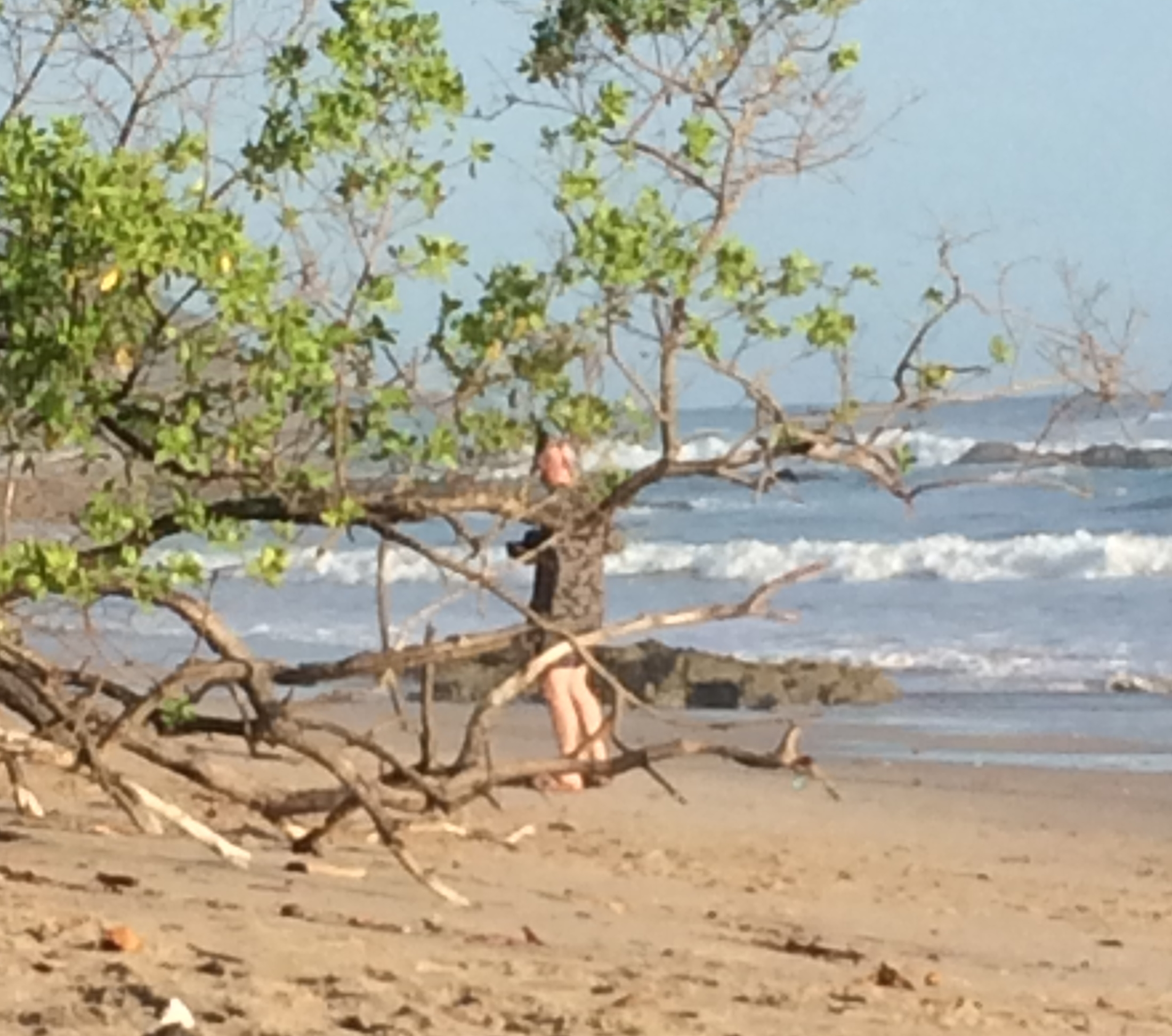 I saw Dave on the beach snapping pics, so I sneaked this creepy photo of him.