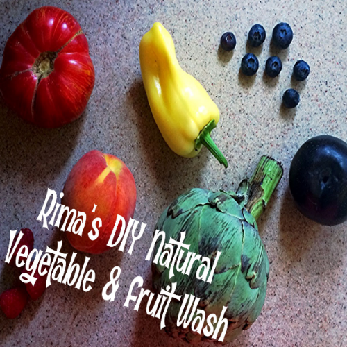 Make your own natural vegetable and fruit wash from ingredients in your cupboard!