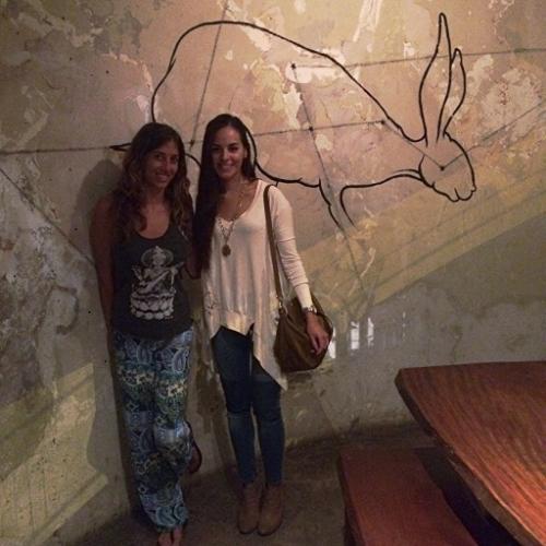 Carolina and I last April at Ravi's Gastropub (Vegetarian/vegan restaurant)in San Jose, Costa Rica.