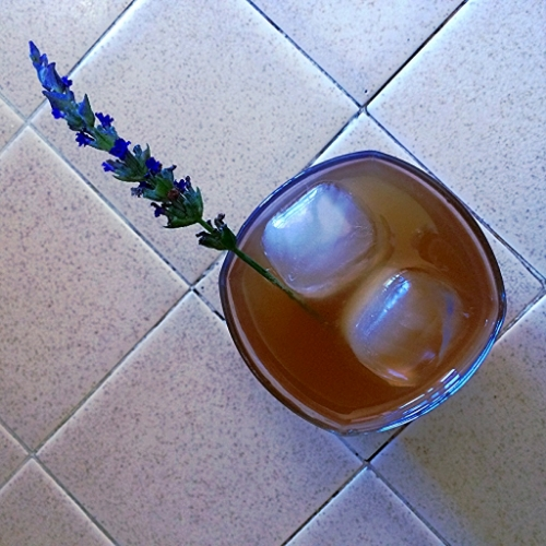 Squeeze, steep, shake, slurp - ahhhh... My lemonade in this picture is brownish because I used brown sugar and agave.