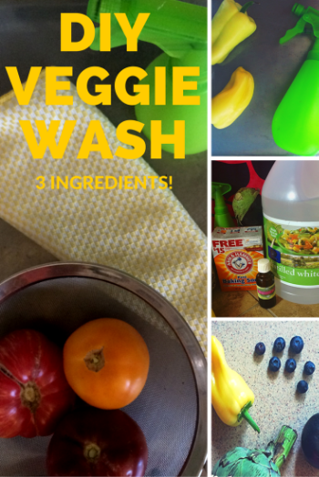 Make a quick, easy homemade fruit and vegetable cleaner with ingredients in your cupboard. Via www.RimaTheJungleGirl.com.