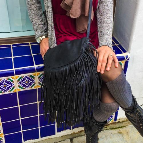 Vegan leather purse from Gisele Tune on Ventura Blvd.