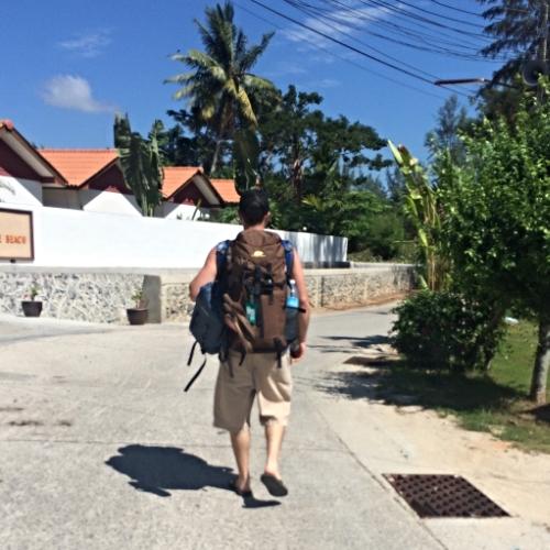 Trekkin' to our spot in Phuket.
