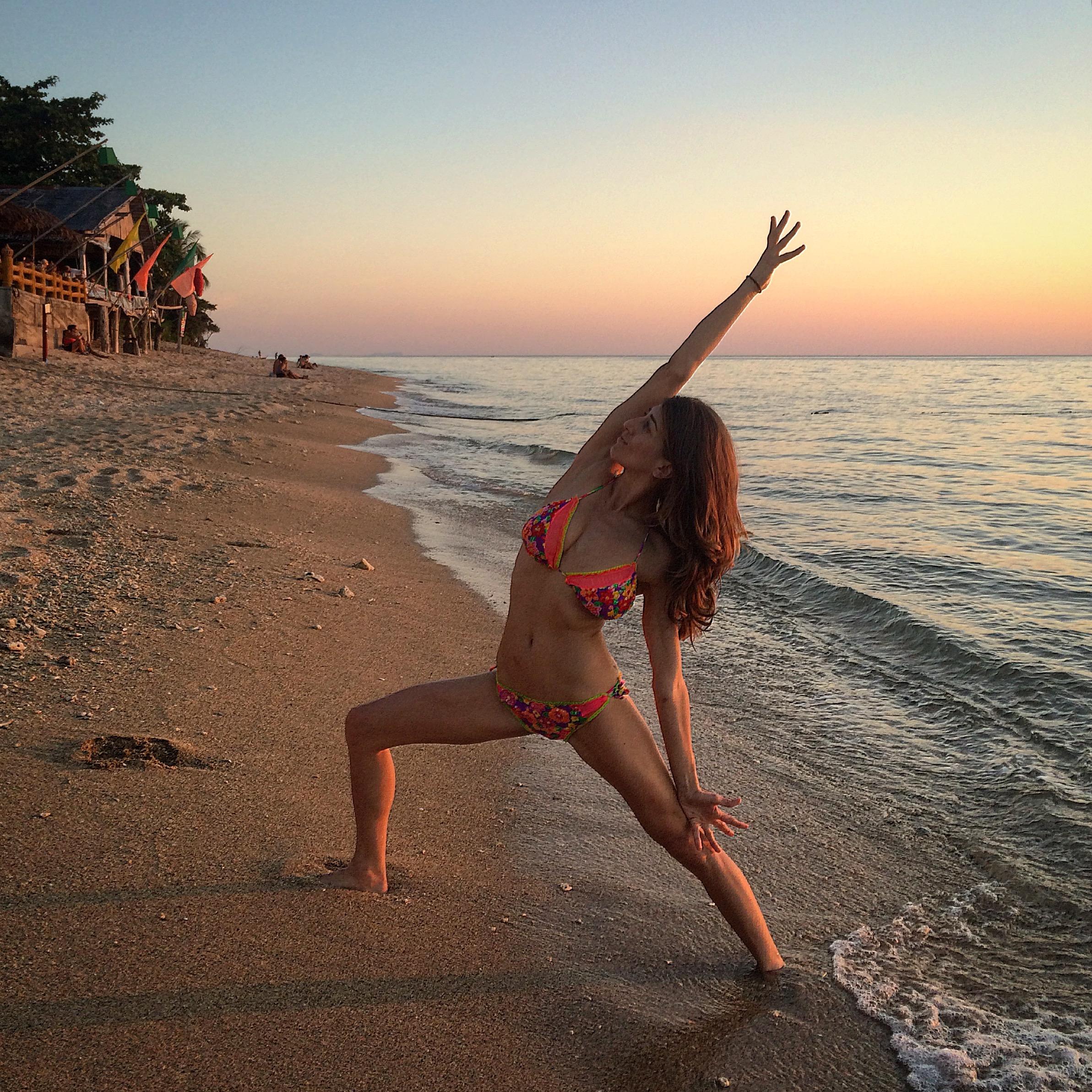 Yogi: @rima_danielle, Bikini: @floriditaswimwear in Koh Lanta, Thailand.