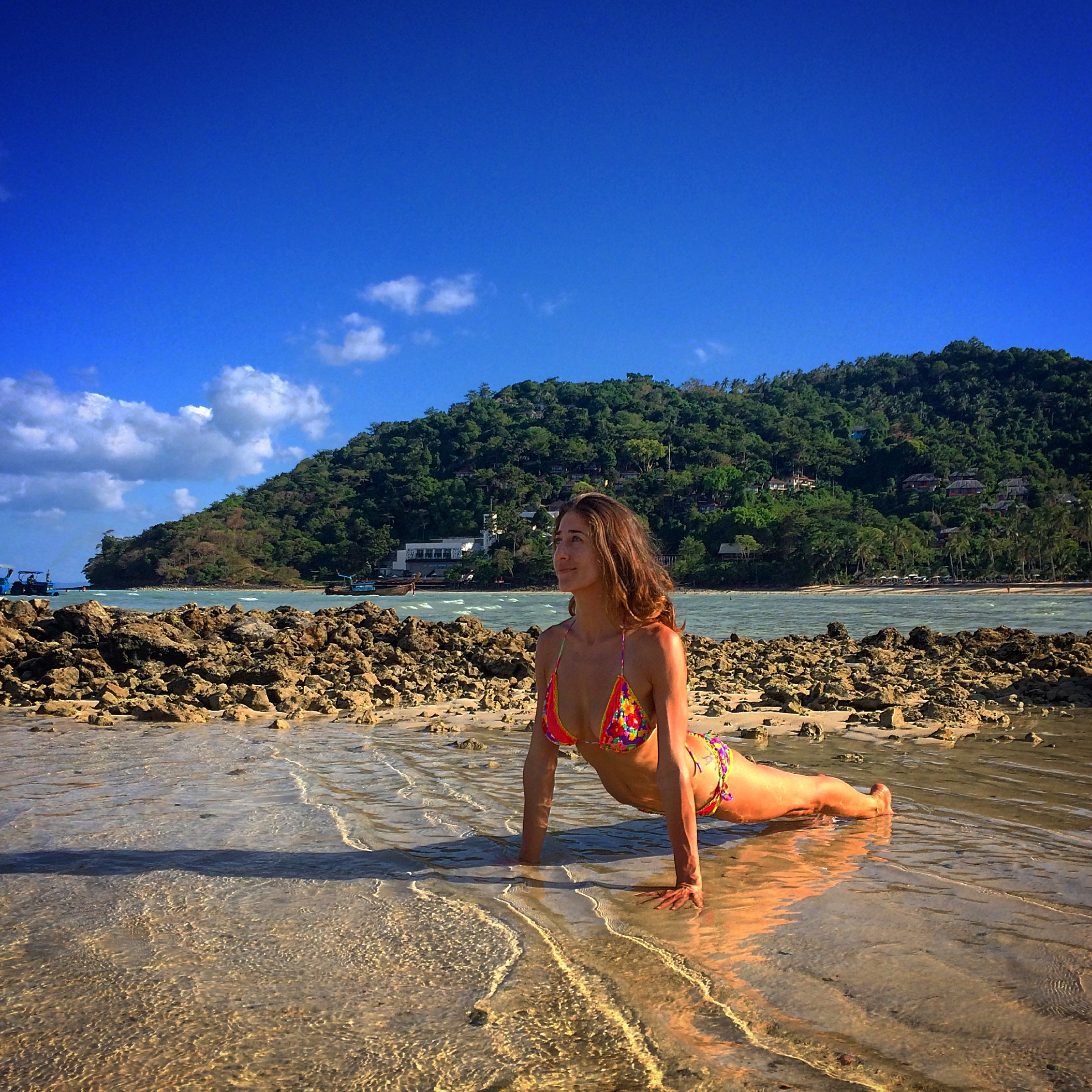 Yogi: @rima_danielle, Bikini: @floriditaswimwear in Koh Phi Phi, Thailand.