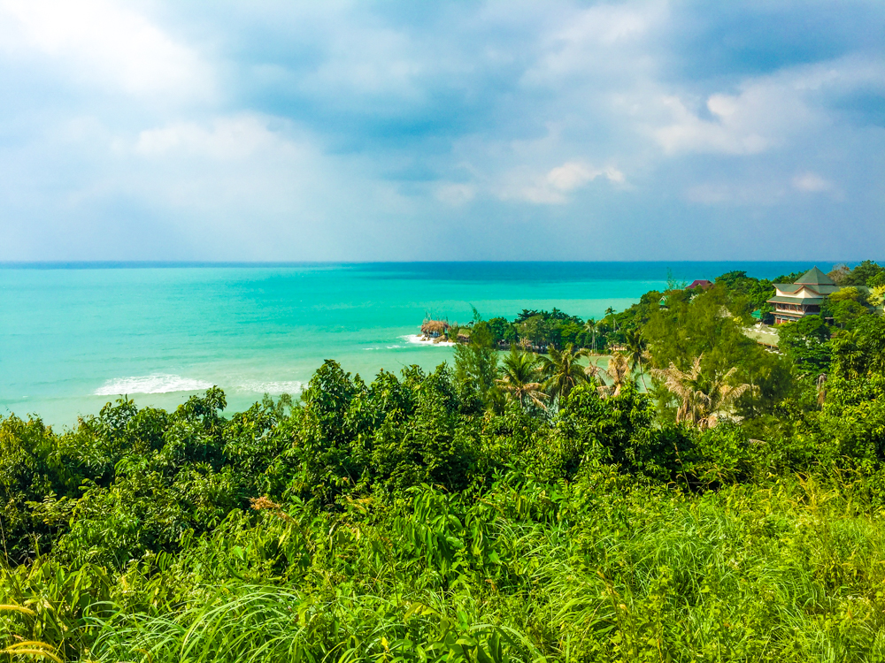 Stunning view of Koh Phangan island on the drive up north.