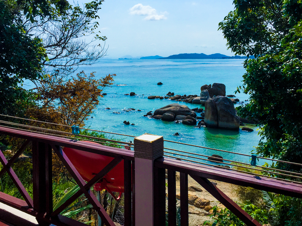 Lamai Beach, Koh Samui - view from our house for the week.