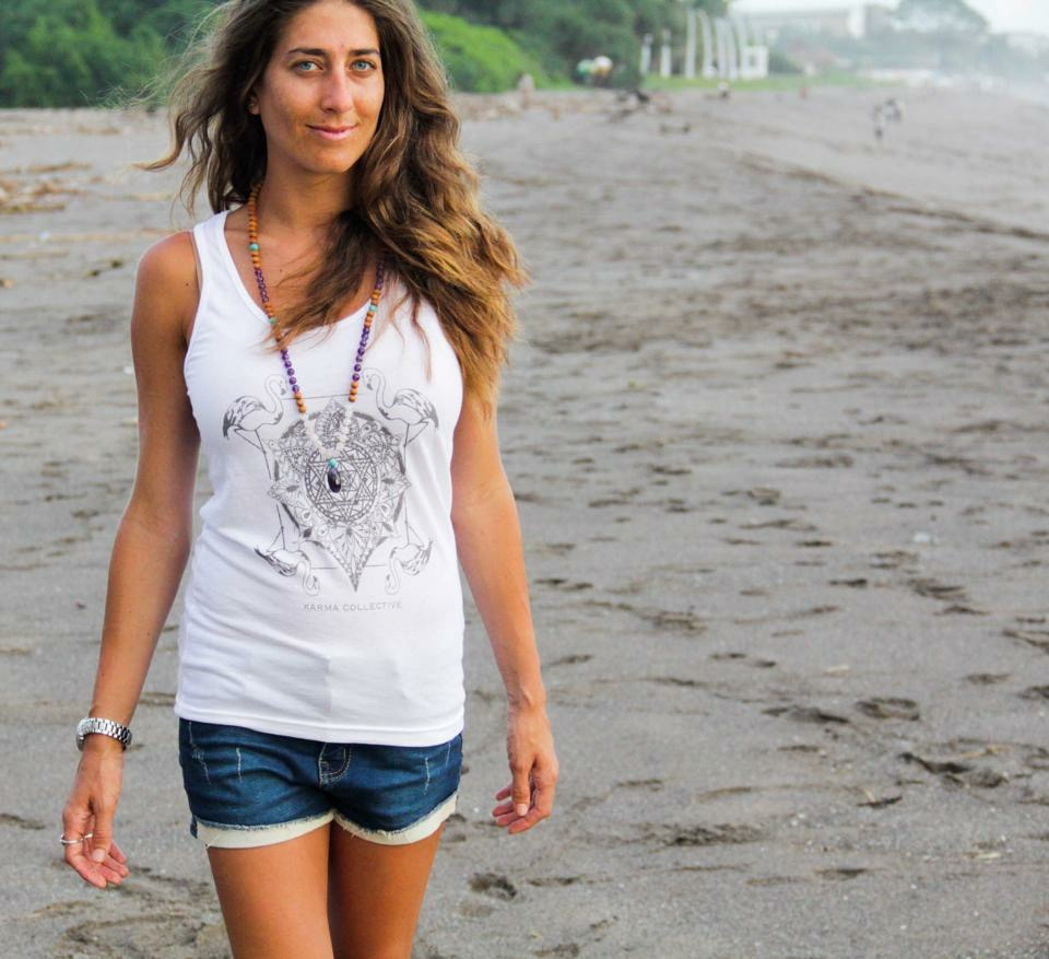 Wearing Karma Collective in Canggu, Bali.